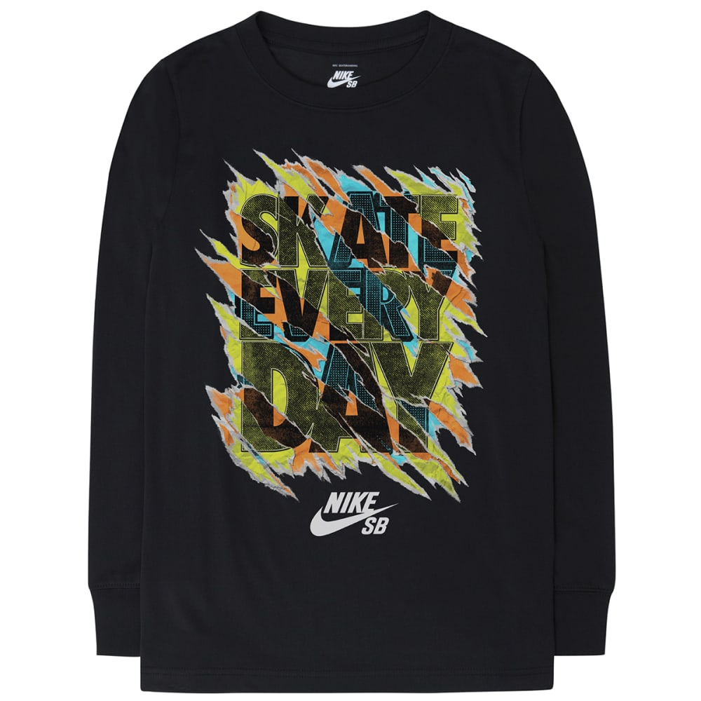 NIKE Boys' Skate Every Day Tee - BLACK
