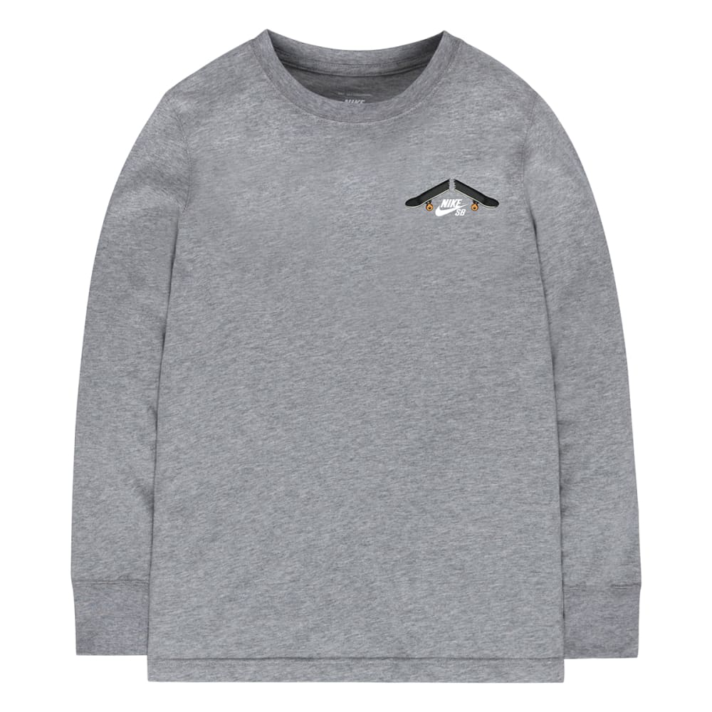 NIKE SB Boys' Breaking Decks Long-Sleeve Tee - DARK GREY HEATHER