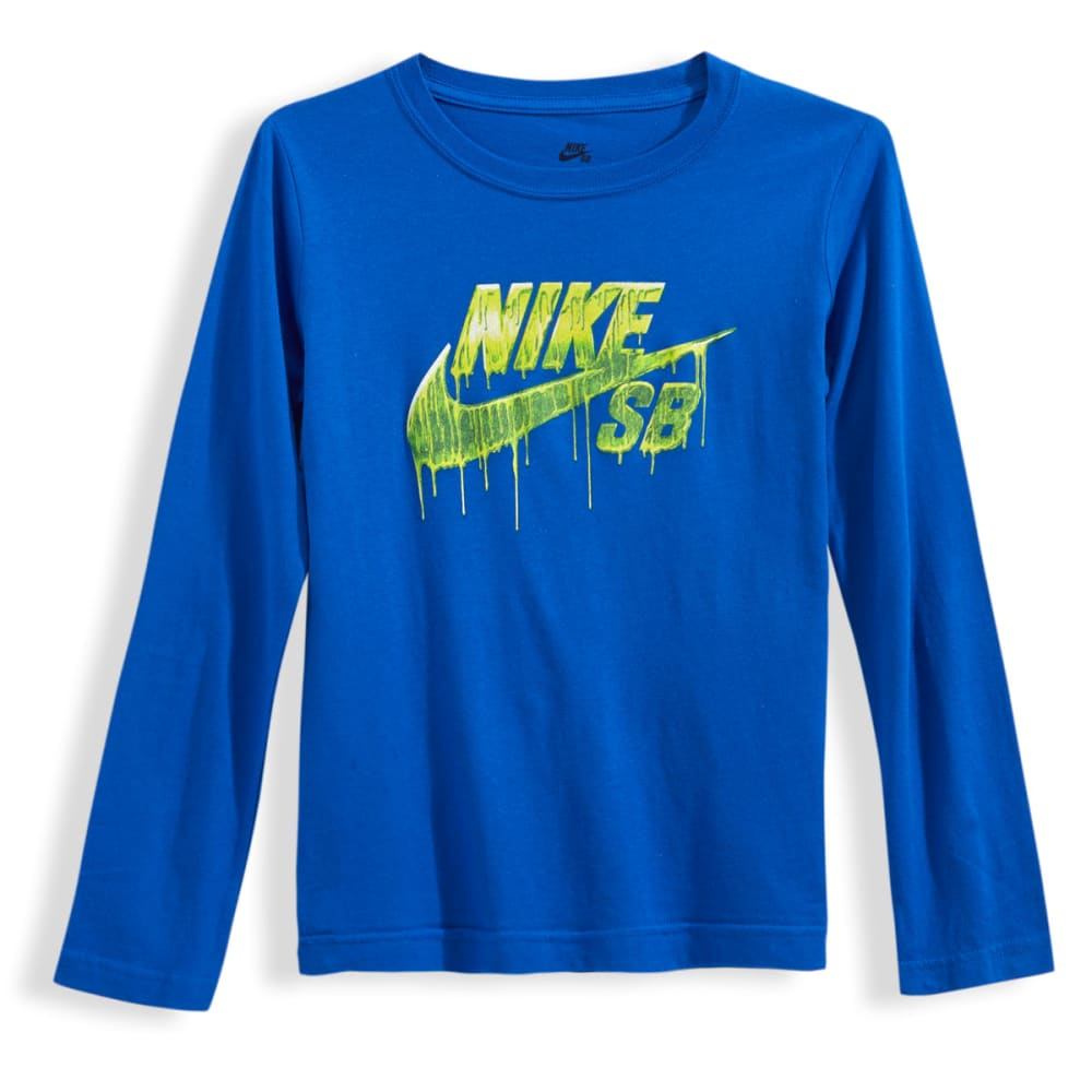 NIKE SB Boys' Liquid Metal Long-Sleeve Tee - ROYAL