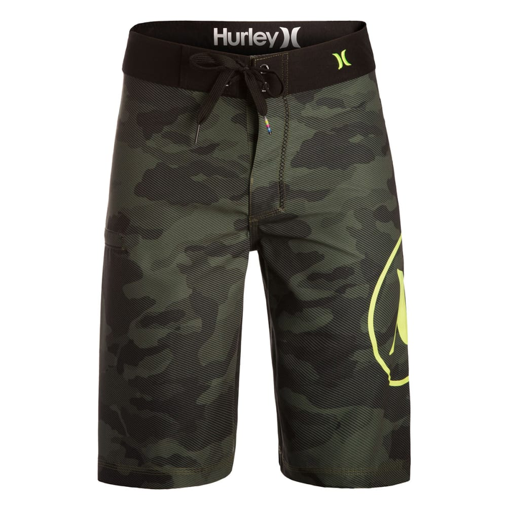 HURLEY Boys' Camo Board Shorts - BLOWOUT - GREEN CAMO
