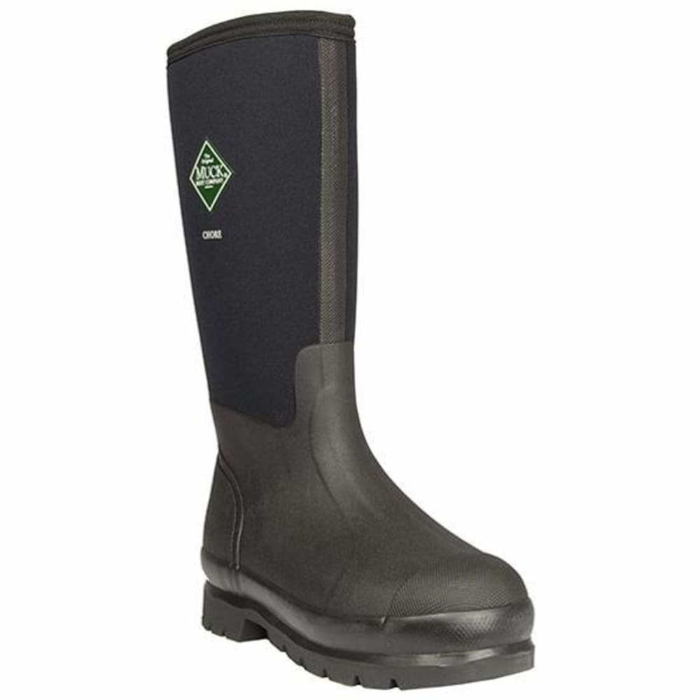 MUCK Men's Chore High Waterproof Work Boots - BLACK