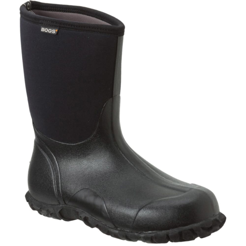 Bogs Men's Classic Mid Waterproof Work Boots - Black, 8