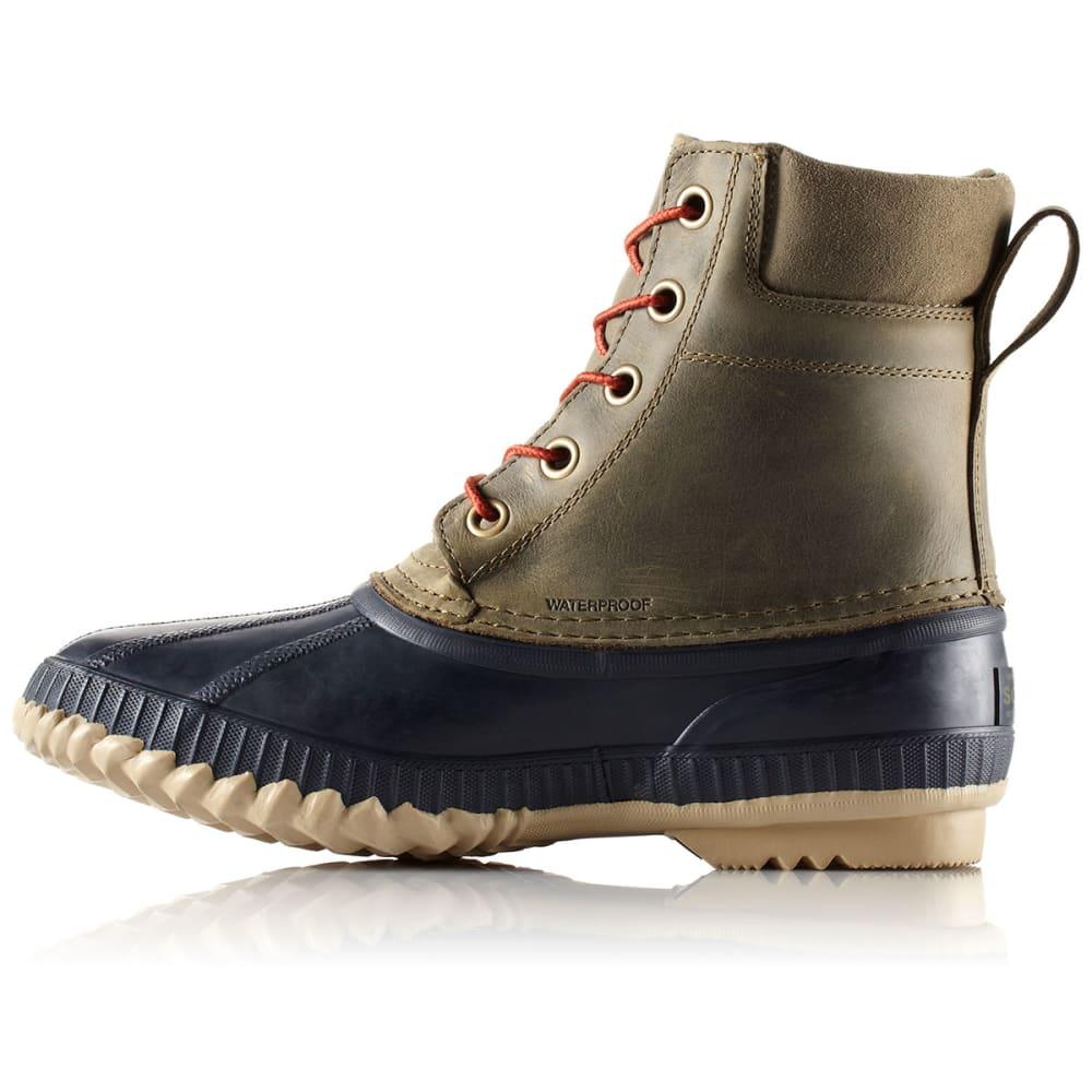 SOREL Men's Cheyanne Lace Full-Grain Leather Boots - ALGAE