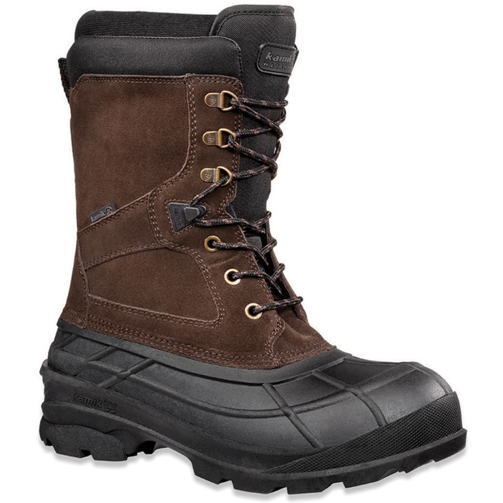 KAMIK Men's Nationwide Waterproof Insulated Storm Boots, Wide - BROWN