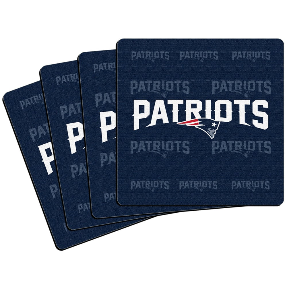 NEW ENGLAND PATRIOTS Coasters, 4-Pack - ASSORTED