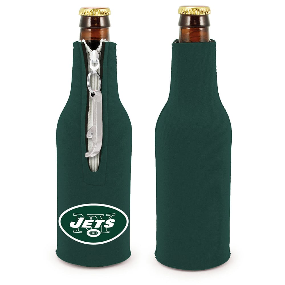 NEW YORK JETS Bottle Koozy with Opener - GREEN
