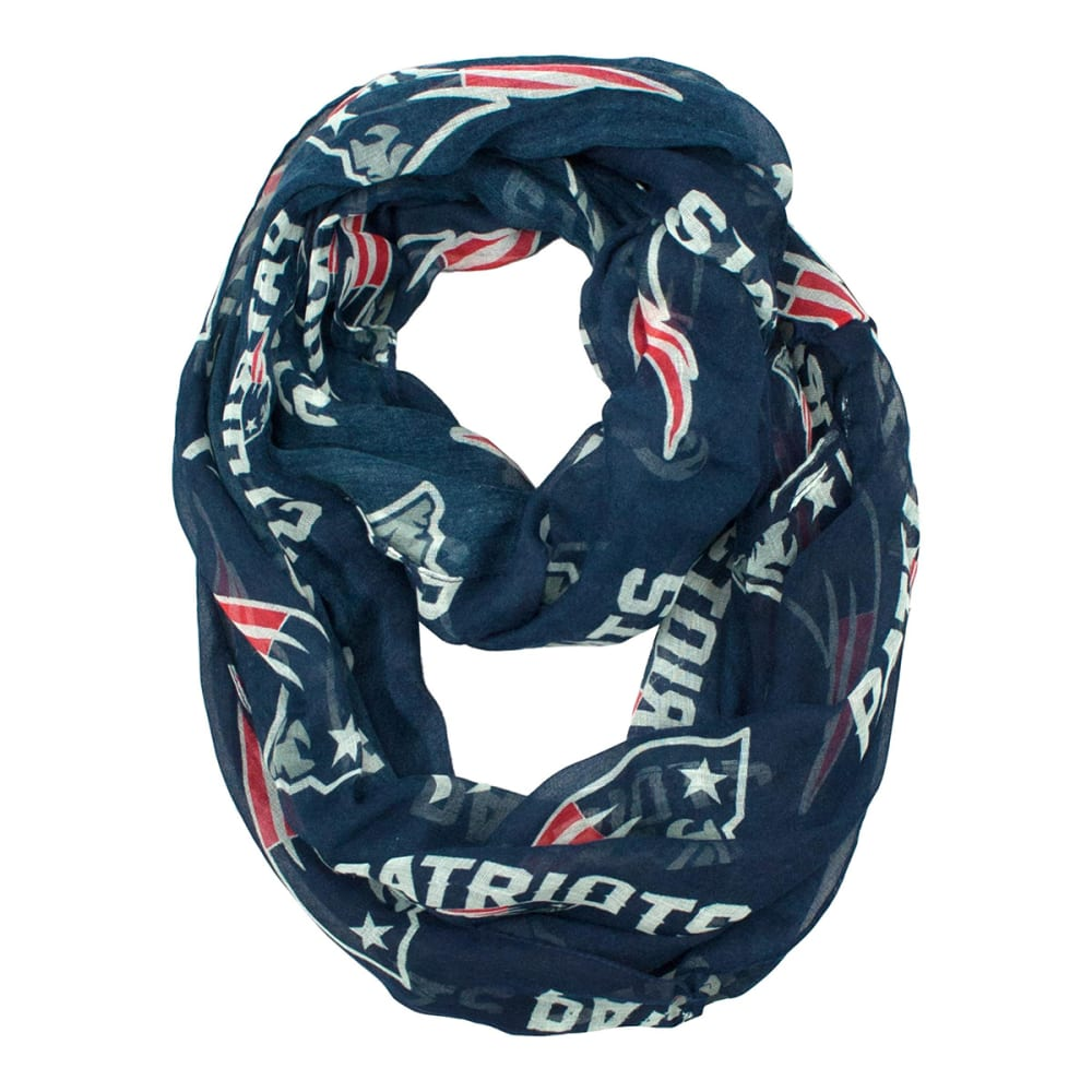 NEW ENGLAND PATRIOTS Women's Sheer Infinity Scarf - TEAM COLOR