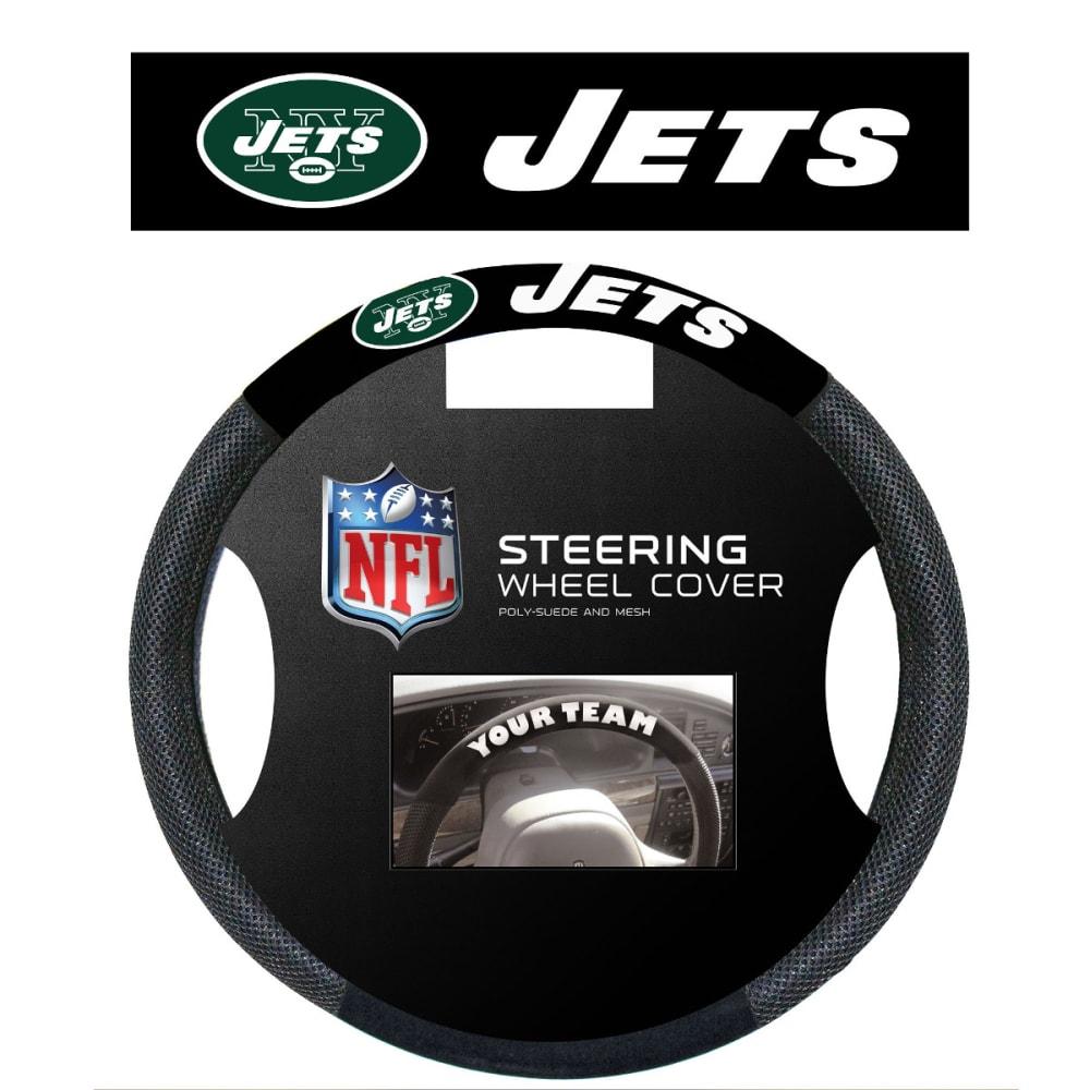 NEW YORK JETS Steering Wheel Cover - BLACK