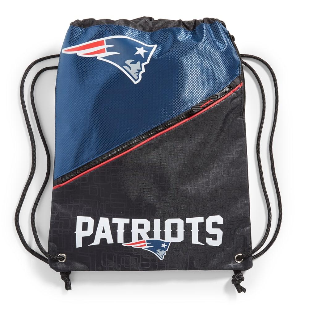 NEW ENGLAND PATRIOTS Zippered Drawstring Bag - NAVY