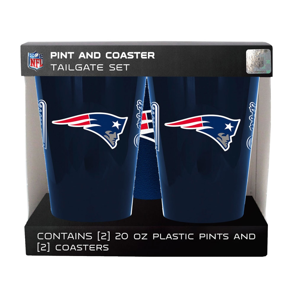 NEW ENGLAND PATRIOTS Two Pack Plastic Pints - NAVY