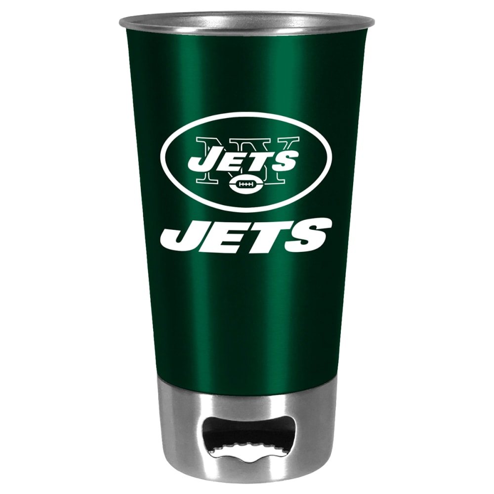 NEW YORK JETS Metal Pint with Opener - MULTI