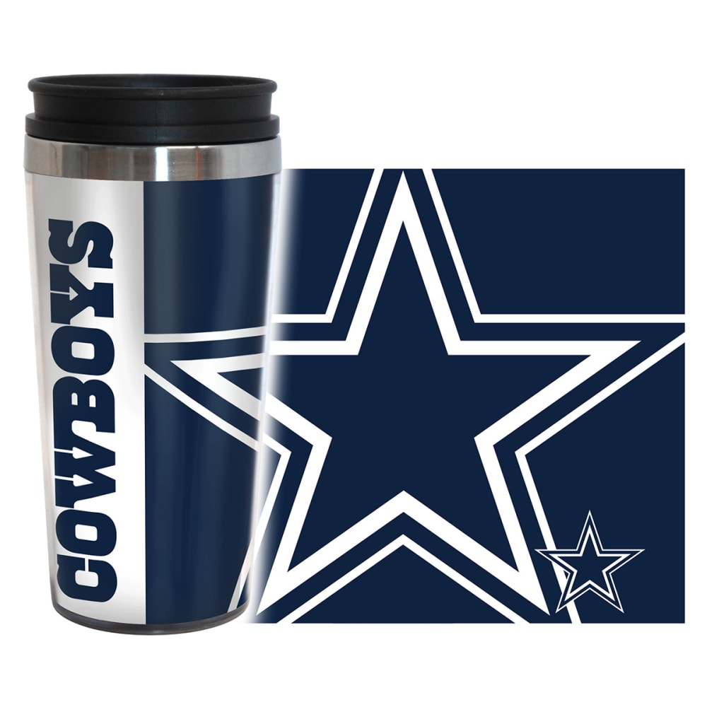 DALLAS COWBOYS Hype Travel Tumbler - CRYSTAL