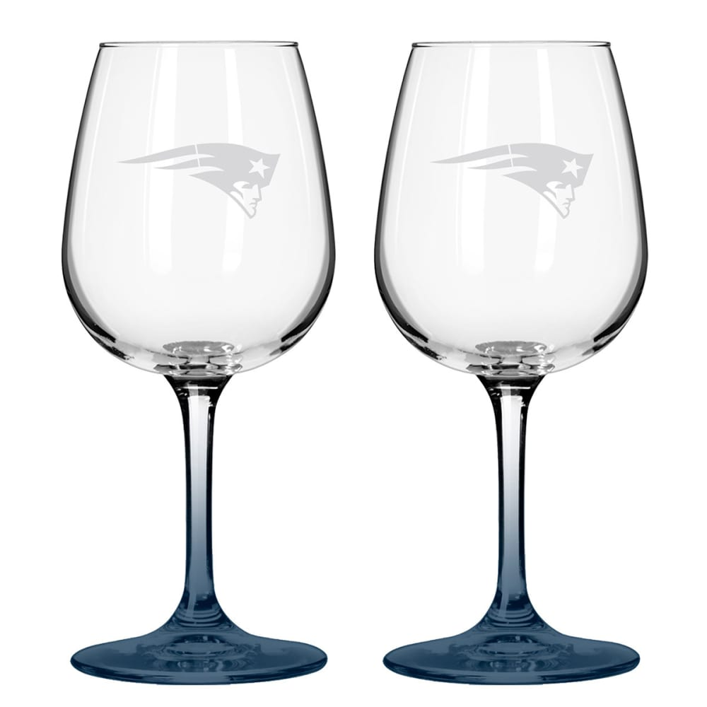 THE NEW ENGLAND PATRIOTS 2 Pack Game Day Wine Glasses - ASSORTED