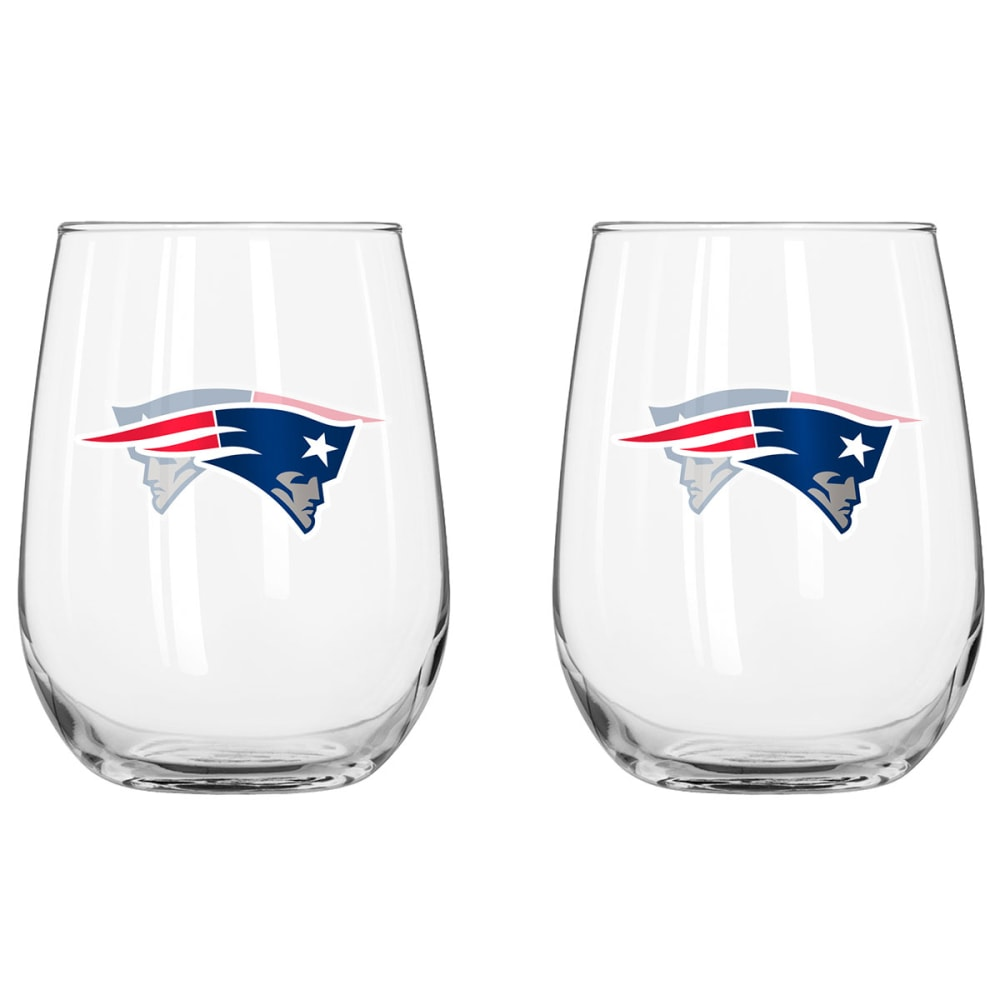 NEW ENGLAND PATRIOTS Stemless Wine Glasses, 2-Pack - CRYSTAL