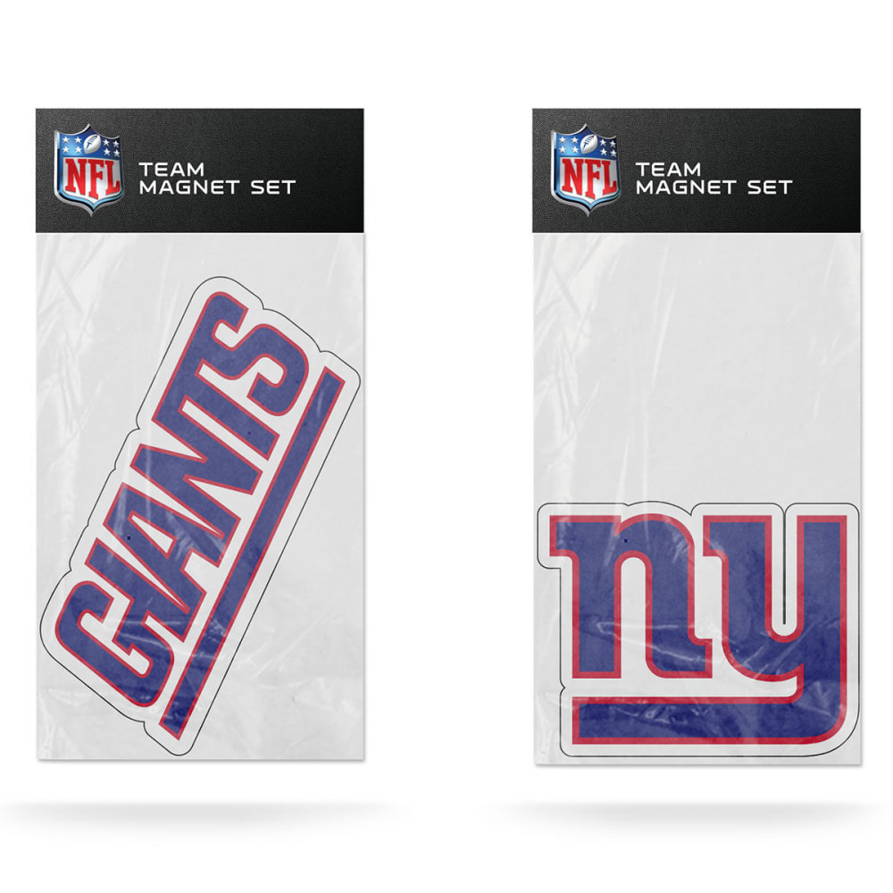 NEW YORK GIANTS Magnet Set, 2-Piece - DARK CRIMSON