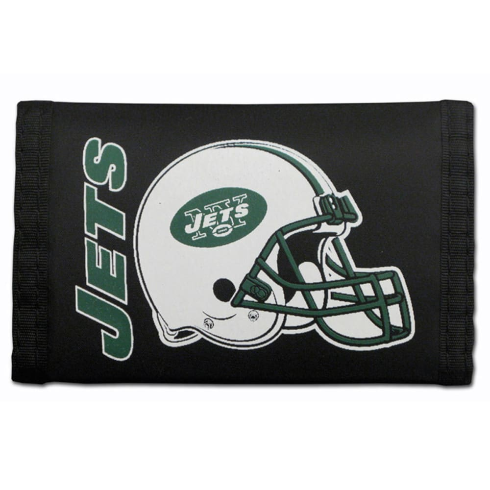 RICO INDUSTRIES/TAG EXPRESS New York Jets Nylon Tri-Fold Wallet - BLACK