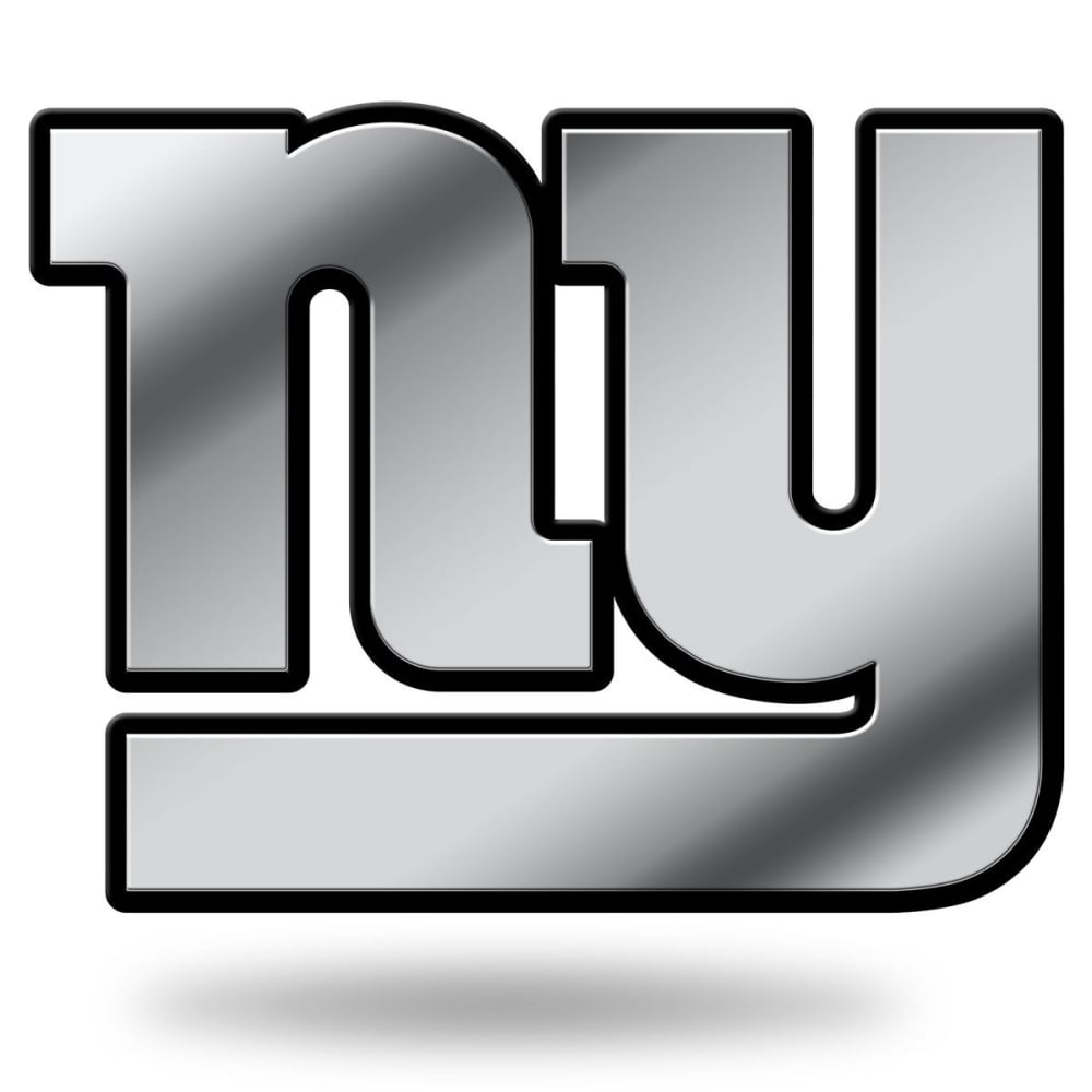 NEW YORK GIANTS Chrome Auto Emblem ONE SIZE
