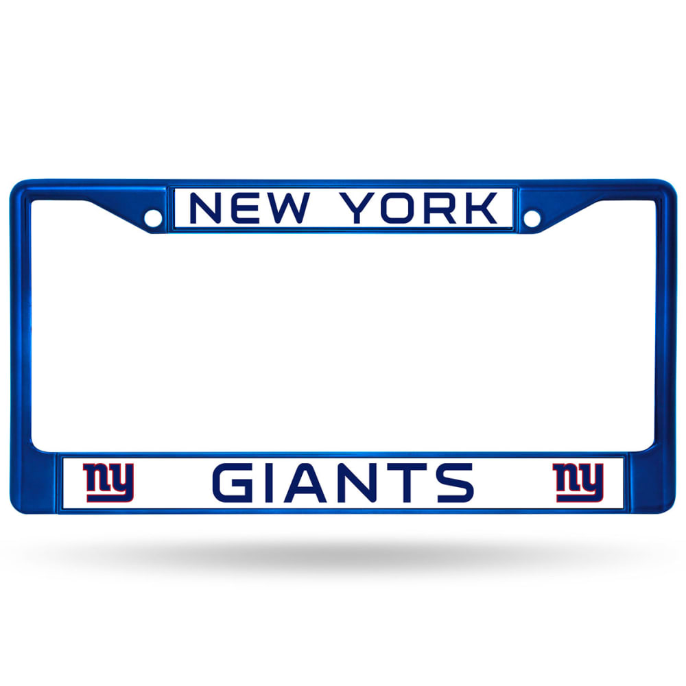NEW YORK GIANTS License Plate Frame - DARK CRIMSON