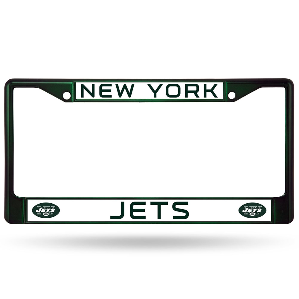 NEW YORK JETS License Plate Frame - GREEN CHROME
