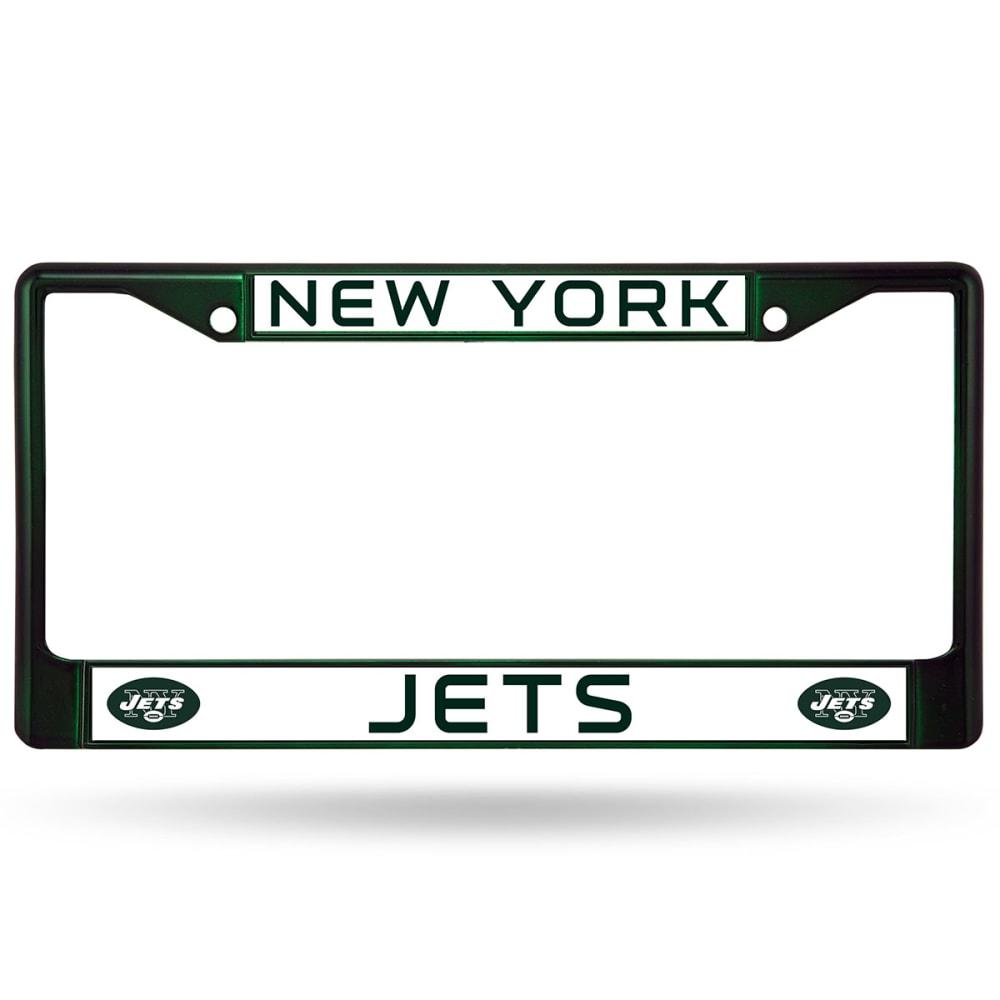 NEW YORK JETS License Plate Frame - GREEN CHROME