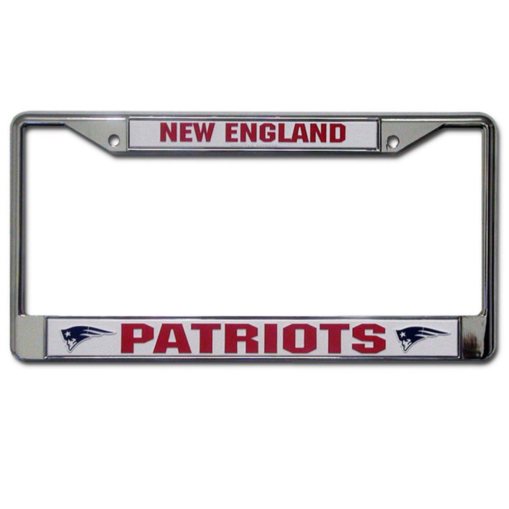 RICO INDUSTRIES/TAG EXPRESS New England Patriots Chrome License Plate Frame - ASSORTED