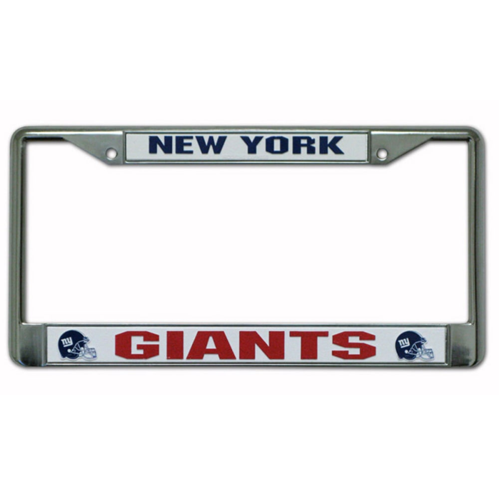 RICO INDUSTRIES/TAG EXPRESS New York Giants Chrome License Plate Frame - ASSORTED