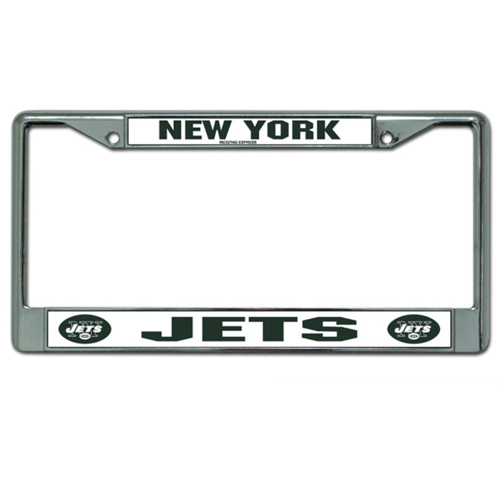 RICO INDUSTRIES/TAG EXPRESS New York Jets Chrome License Plate Frame - ASSORTED