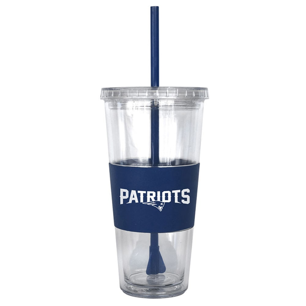 NEW ENGLAND PATRIOTS Tumbler with Lid and Straw - ASSORTED