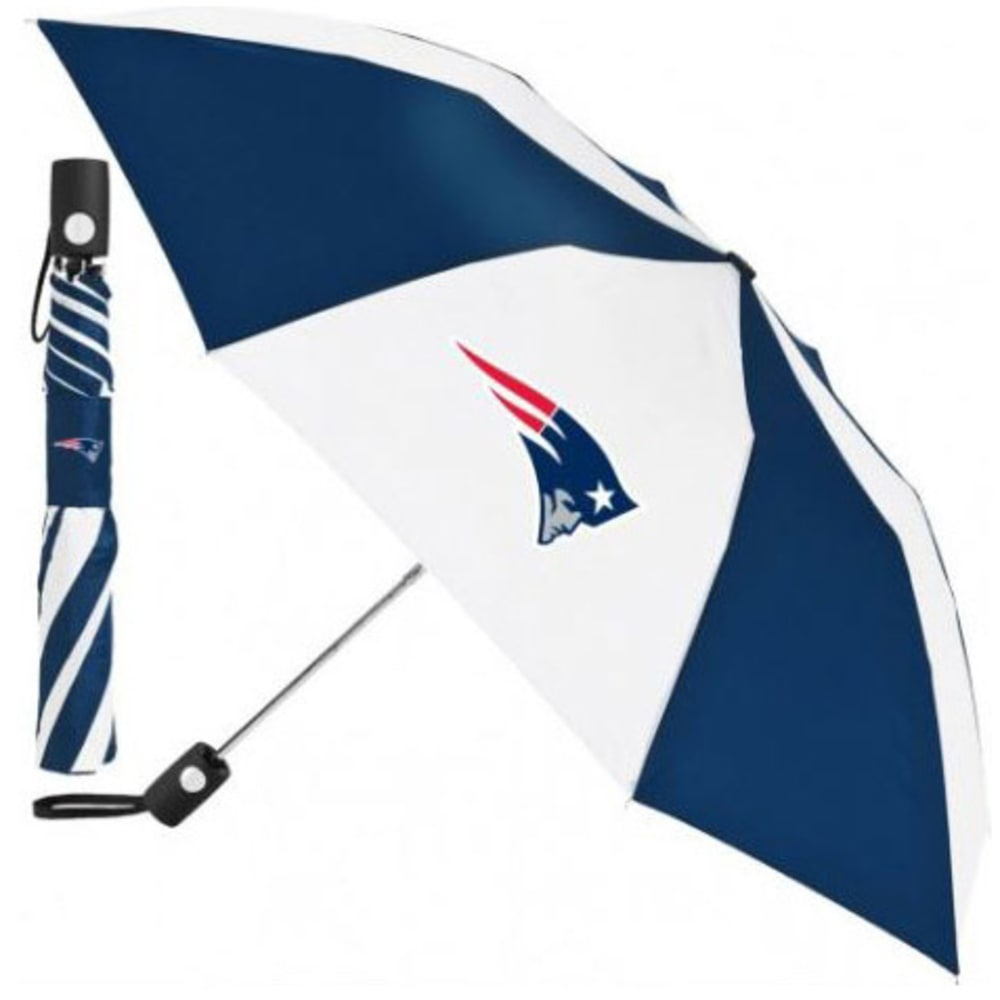 NEW ENGLAND PATRIOTS Automatic Folding Umbrella - NAVY/WHITE