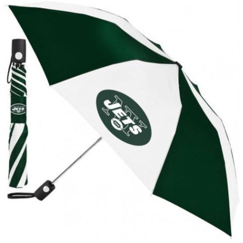 NEW YORK JETS Automatic Folding Umbrella - GREEN/WHITE