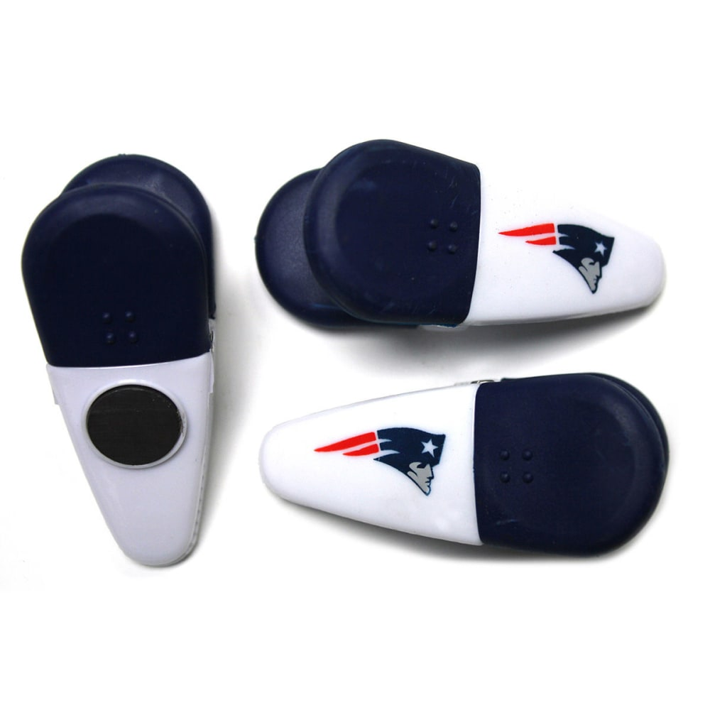 NEW ENGLAND PATRIOTS Bag Clips, 3 Piece Set - CRYSTAL