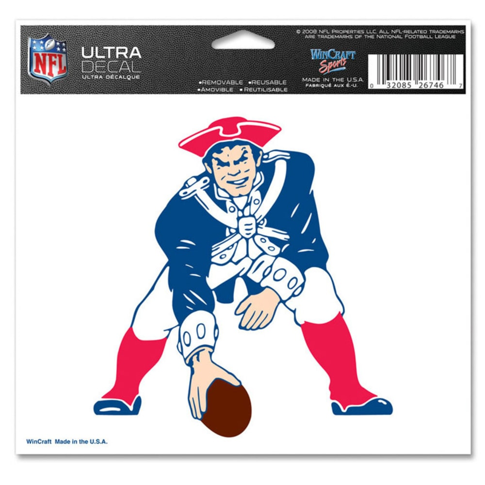 NEW ENGLAND PATRIOTS Pat Logo 4x6 Ultra Decal - ASSORTED