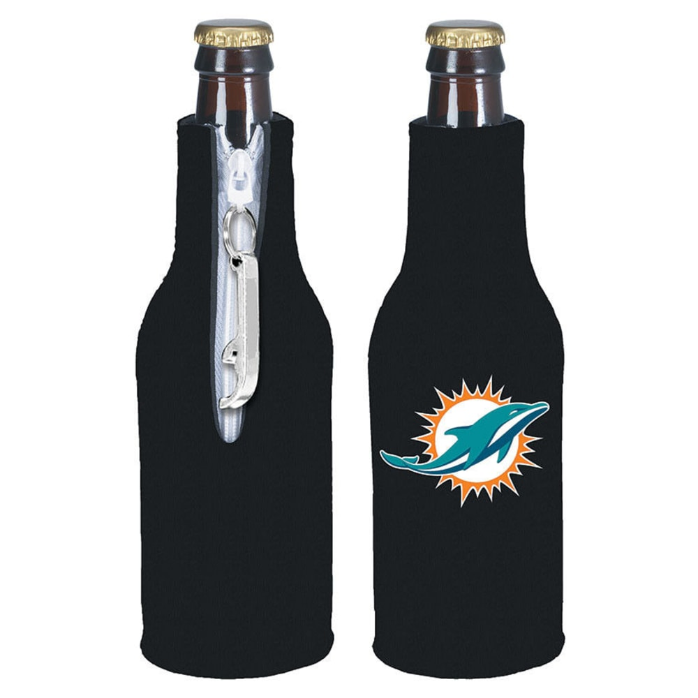 MIAMI DOLPHINS Zip Koozy With Opener ONE SIZE