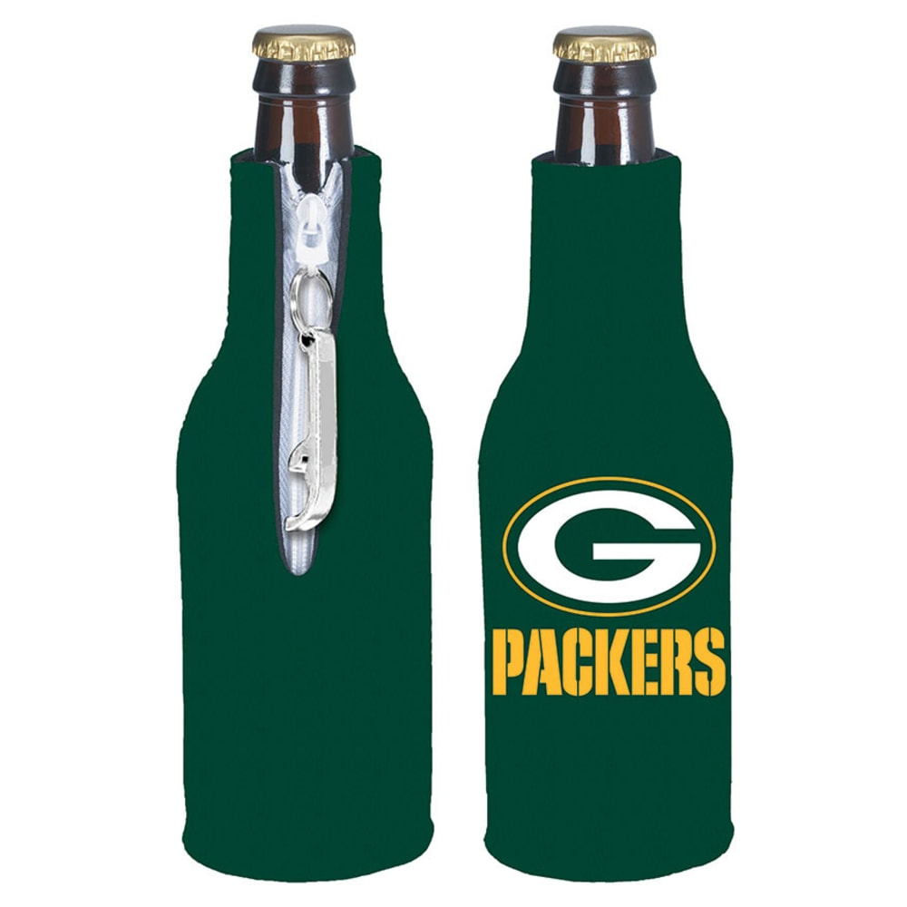 GREENBAY PACKERS Zip Koozy With Bottle Opener - ASSORTED