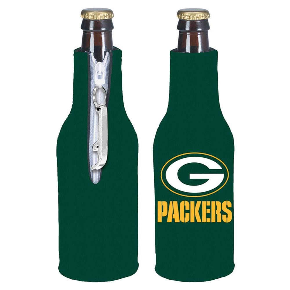 GREENBAY PACKERS Zip Koozy With Bottle Opener - ASSORTED