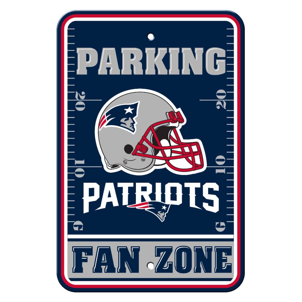 NEW ENGLAND PATRIOTS Fan Zone Parking Sign - NAVY/GREY