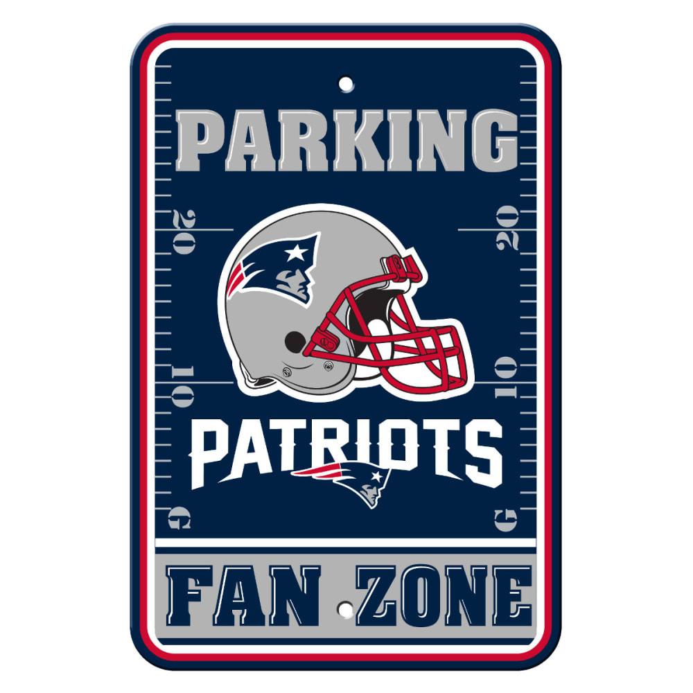 NEW ENGLAND PATRIOTS Fan Zone Parking Sign - NAVY/GREY