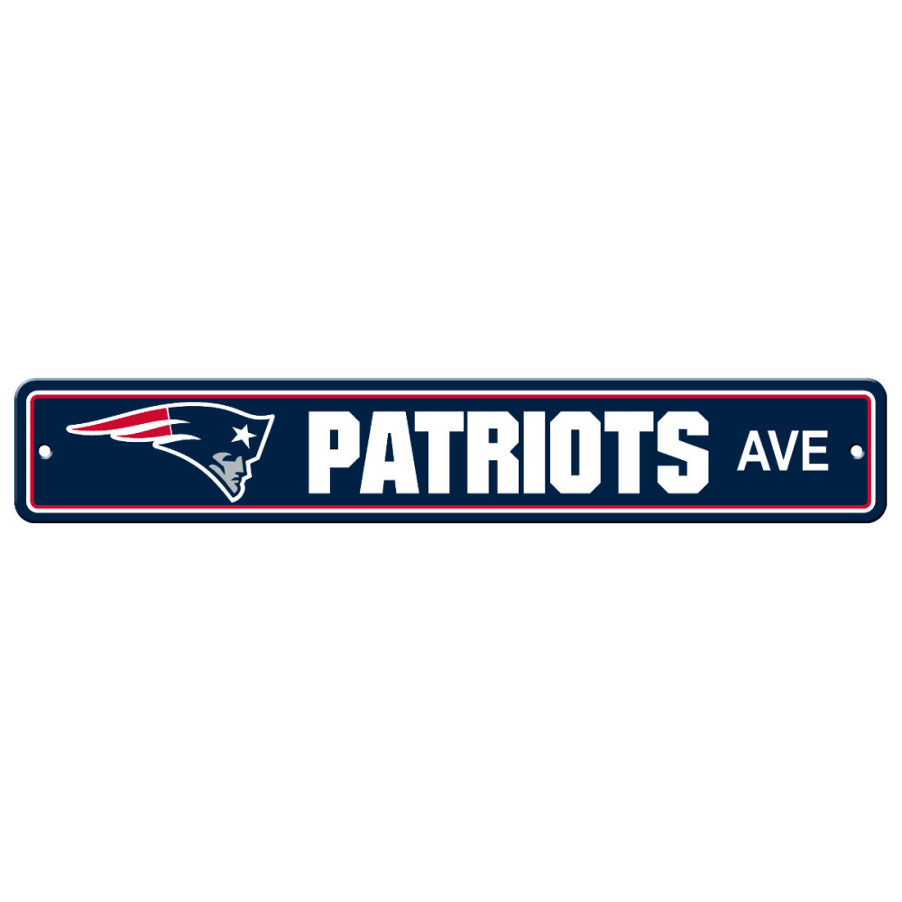 NEW ENGLAND PATRIOTS Street Sign - NAVY