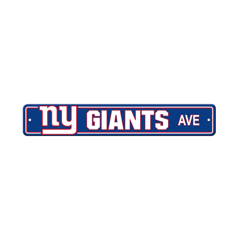 FREMONT DIE New York Giants Street Sign - ROYAL/WHITE/RED