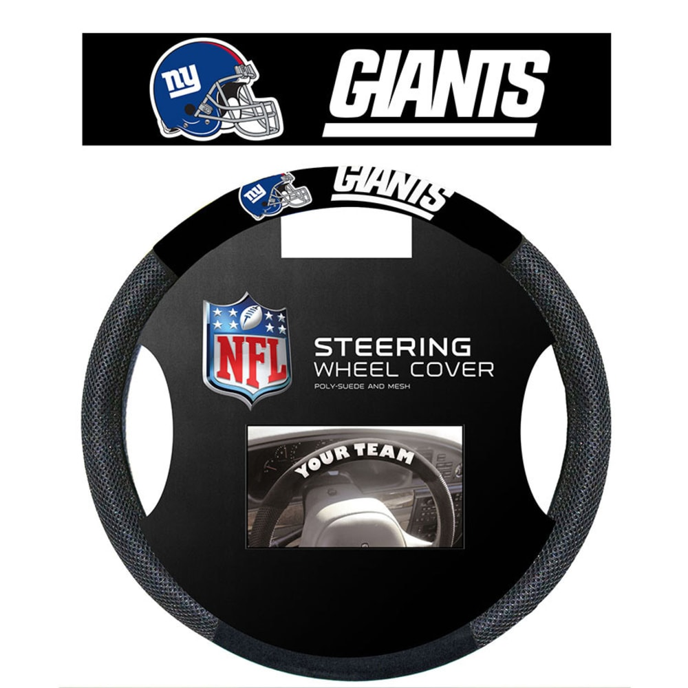 NEW YORK GIANTS Steering Wheel Cover - BLACK