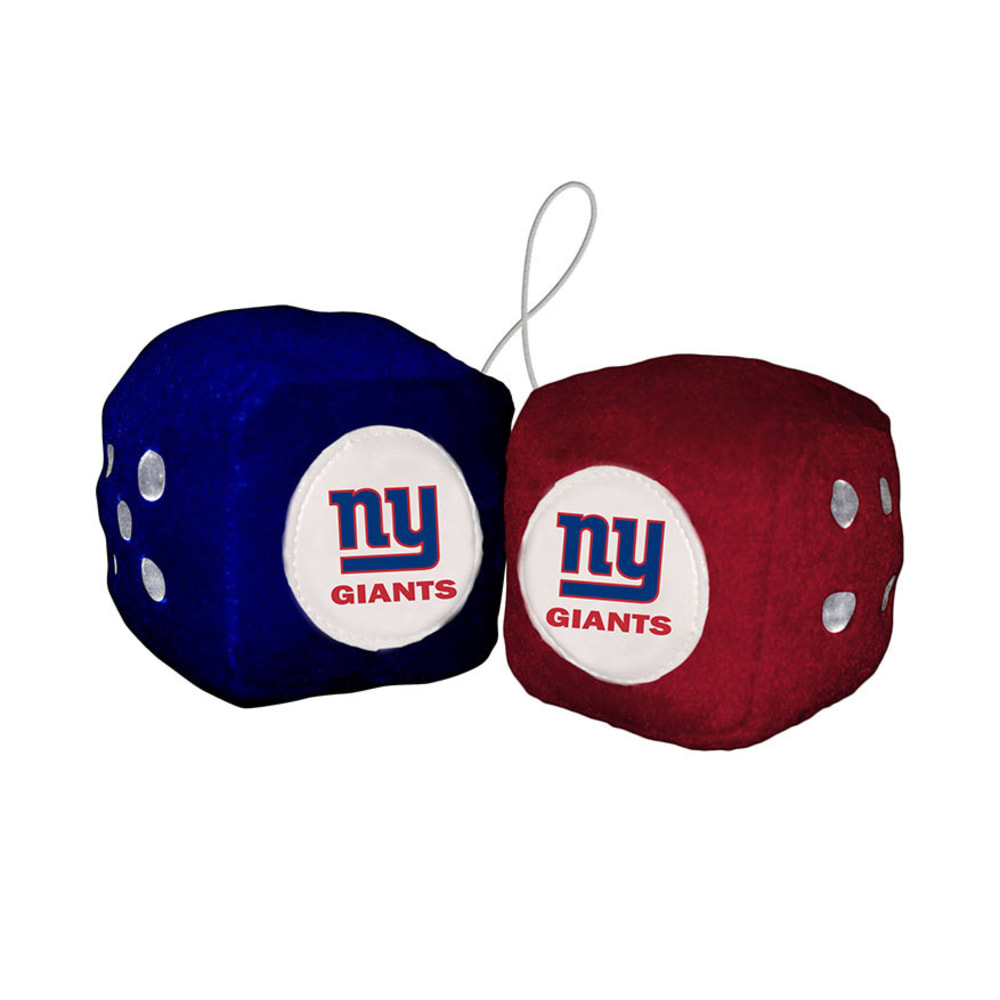 NEW YORK GIANTS Fuzzy Dice - BLUE