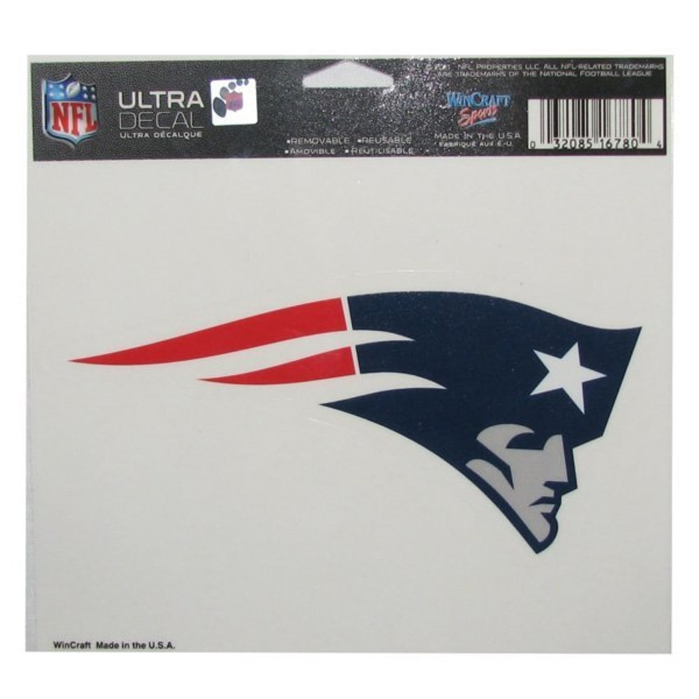 NEW ENGLAND PATRIOTS Official Elvis Logo 4x6 Ultra Decal - ASSORTED