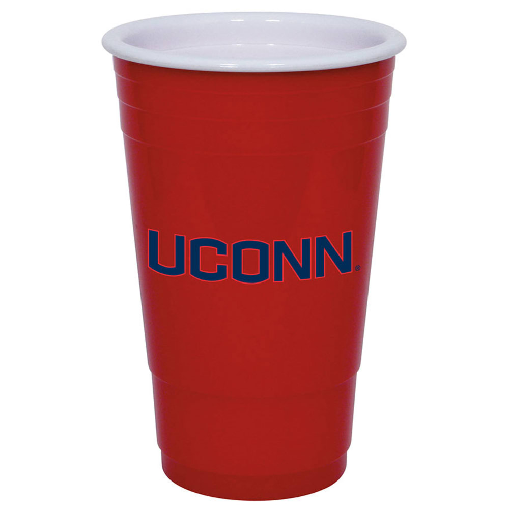 UCONN Red Plastic Solo Cup - RED