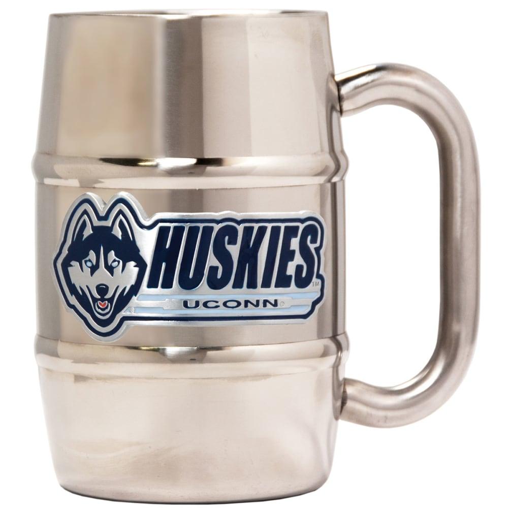 UCONN HUSKIES Stainless Steel 16 oz. Barrel Mug - UCONN