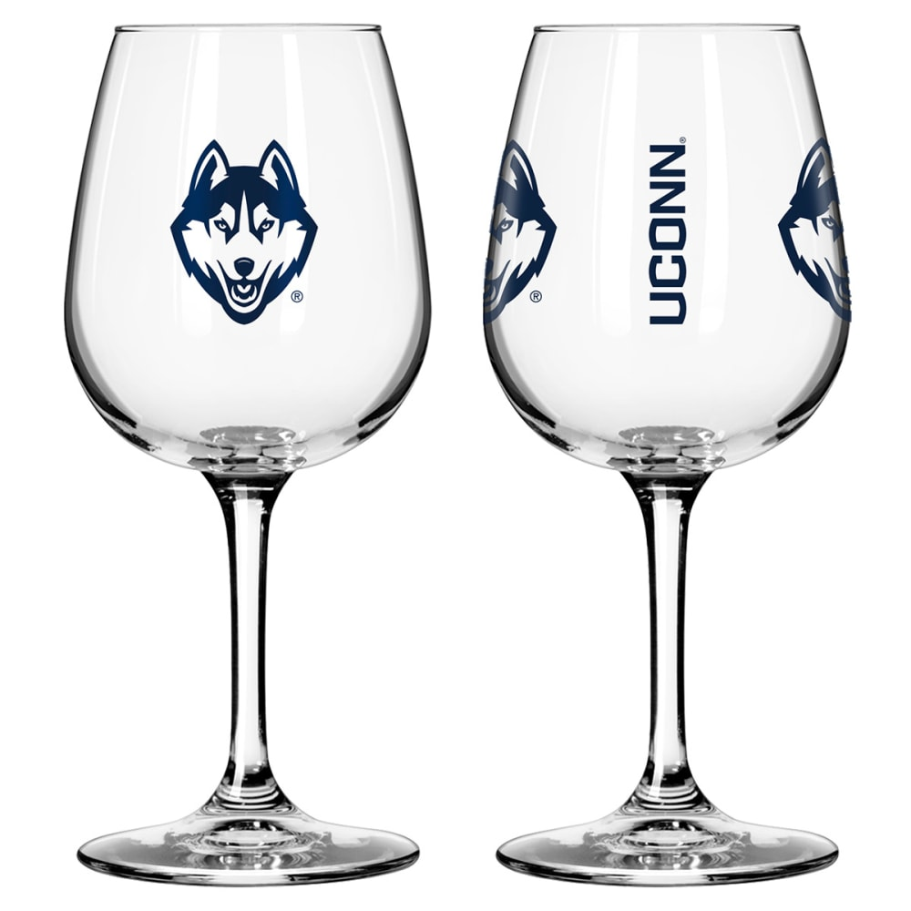 UCONN HUSKIES 2-Pack Game Day Wine Glasses - UCONN