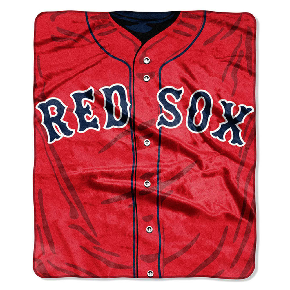 BOSTON RED SOX Raschel Blanket ONE SIZE