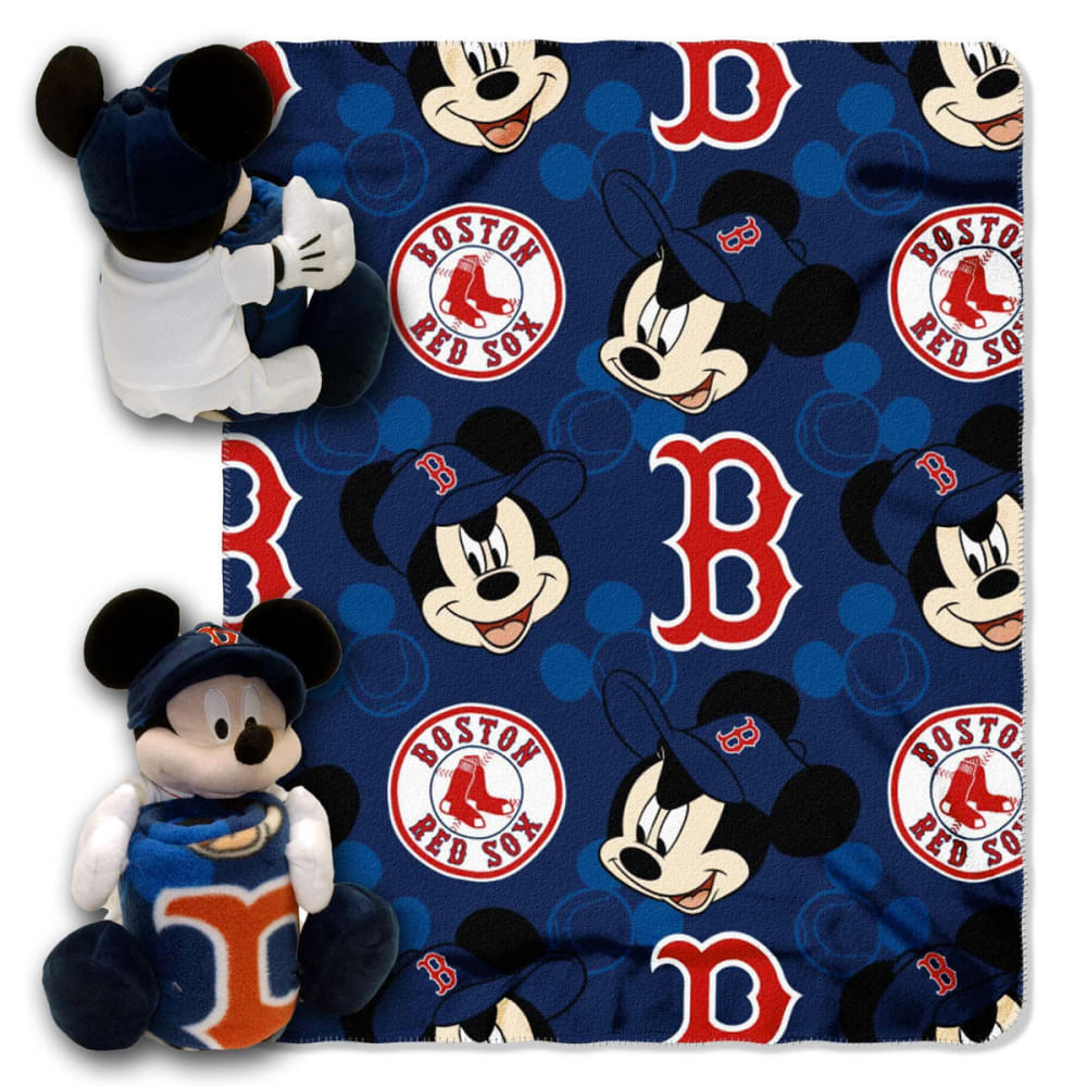 BOSTON RED SOX Mickey Mouse Blanket Set - MULTI
