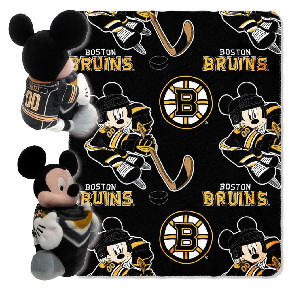 BOSTON BRUINS Mickey Mouse Blanket Set - BLACK/YELLOW