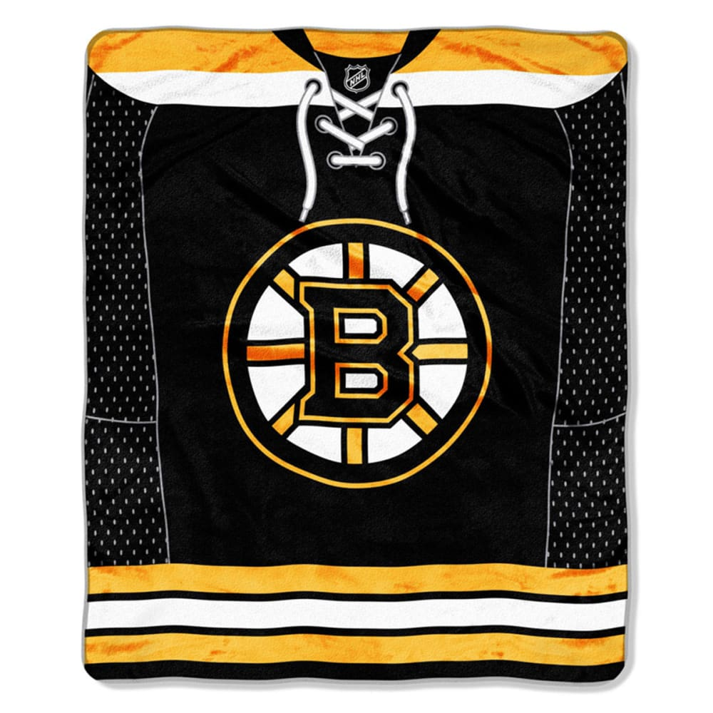 BOSTON BRUINS Raschel Throw Blanket - ASSORTED