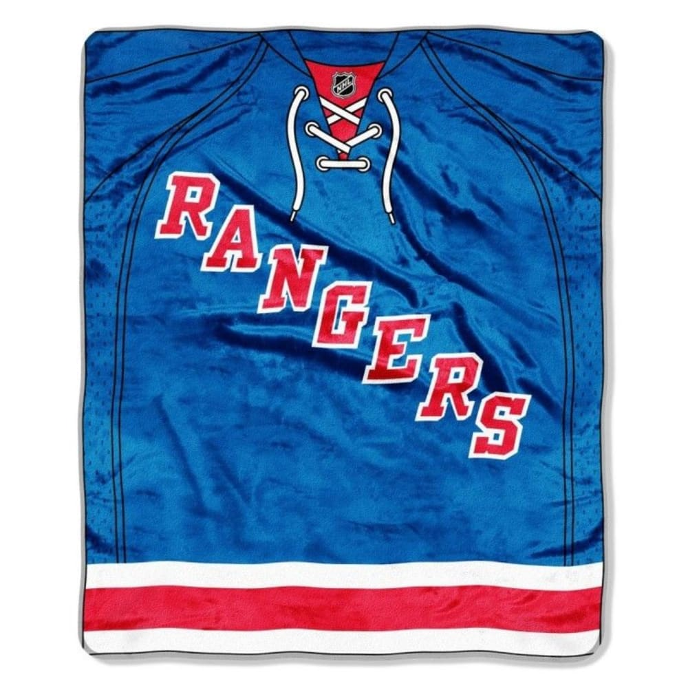 NEW YORK RANGERS Raschel Throw Blanket - ASSORTED